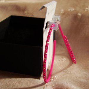 Kendra Scott Val Pink Crystal Hoop Earrings